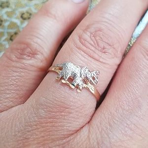 14k Yellow gold Elephant Ring 4 5 6 7 8 9 10